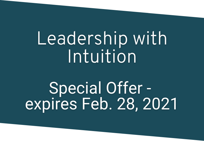 Leadership with Intuition Special Offer